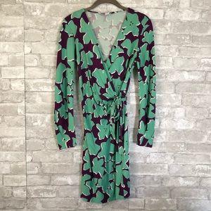 Diane von Furstenburg Silk Wrap Dress Sz 2